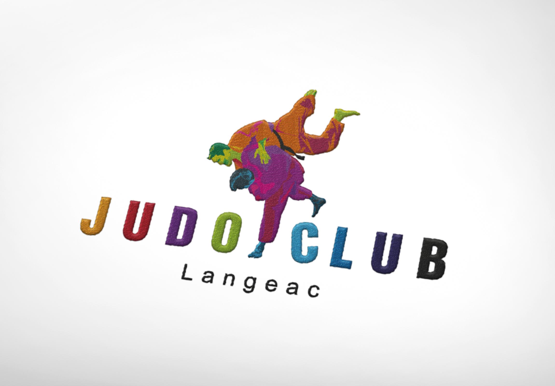 Logotype Judo Club Langeac brodé