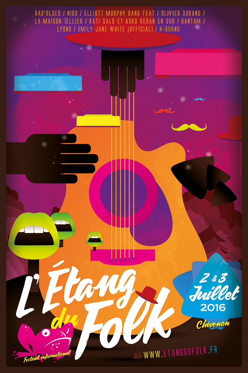 Affiche Festival l'Etang du Folk
