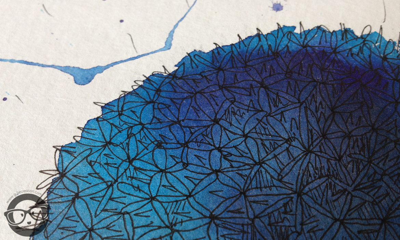 Illustration aquarelle chardon bleu