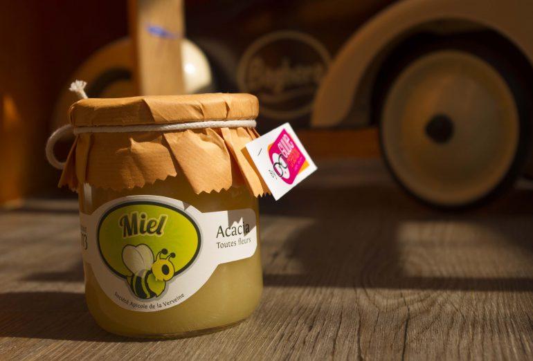 Packaging pots de miel société apicole de la verveine